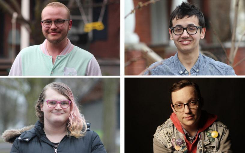 A collage of four portrait photos.